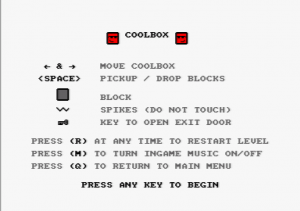 Coolbox - Instructions screen