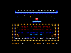 Heroes Rescue - title screen
